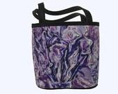 BUCKET BAG - FLORAL - Petite Size.  Lavender Bouquet Image.