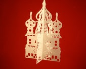 Papercutting of Russian Church with Onion Domes