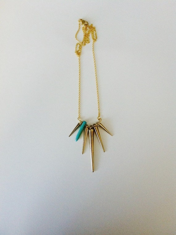 Gold & Turquoise Spike.