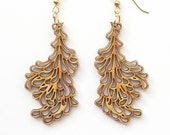 Medium Bamboo Petal Earrings