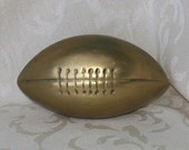 RESERVED for Meaghan..Sale.. Solid Brass Football Paperweight