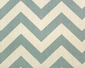 SALE - Premier Prints Fabric Zig Zag Chevron in Village Blue and Natural - Fat Quarter