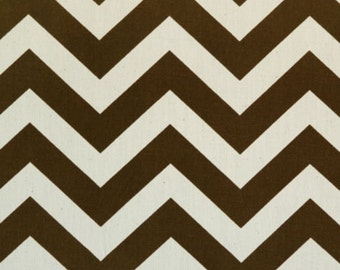 SALE - Premier Prints Fabric Zig Zag Chevron in Village Brown and Natural