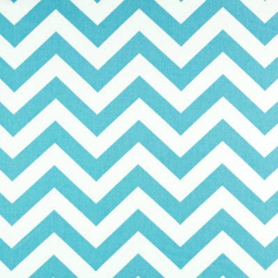 SALE - Premier Prints Fabric Zig Zag Chevron in Girly Blue Twill - By the Yard
