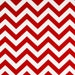 SALE - Premier Prints Fabric Zig Zag Chevron in Red and White Twill - By the Yard