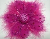 Hot Pink Princess Flower with Marabou