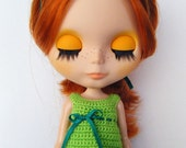 WOOL TOP FOR BLYTHE - APPLE GREEN