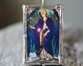 Archangels Raphael and Gabriel - Silver Framed Reversible Pendant