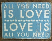 "All You Need is Love ""Fun Size"" 9 x 11"