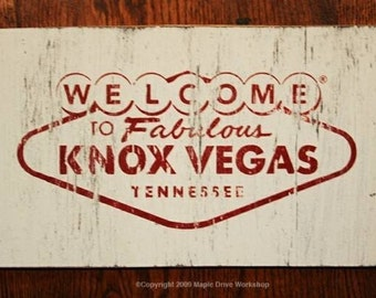 KnoxVegas rustic-weathered wooden sign 12x20