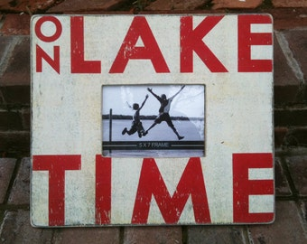 On Lake Time- Rustic picture frame