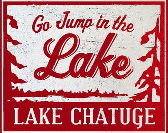 Go Jump in the Lake-Lake Chatuge 12x13