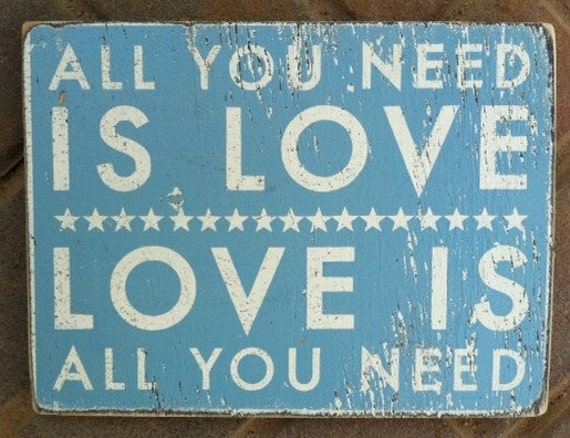 """All You Need is Love """"Fun Size"""" 9 x 11"""