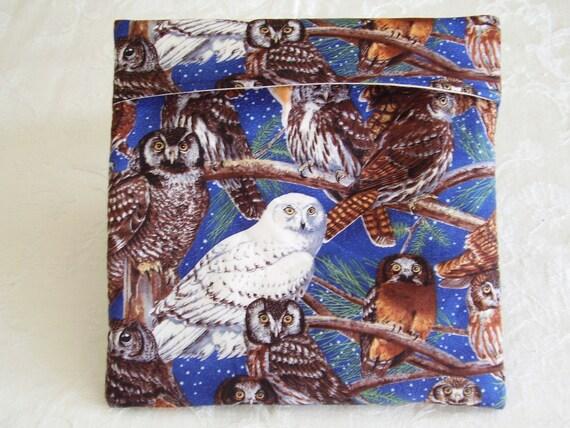 MICROWAVE POTATO BAG OWLS