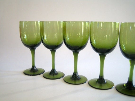 Eight Small Modern Wine or Cordial Glasses