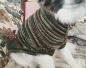 "Sweet Doggie Sweater In ""Camouflage"" - Small"