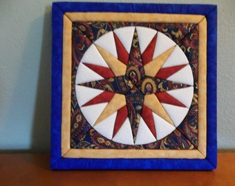MADE TO ORDER - Mariner's Compass Quilt Art