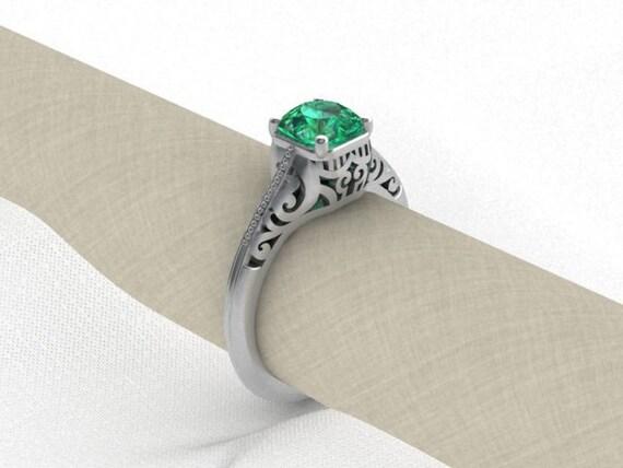 Green Topaz Vintage Style Ring