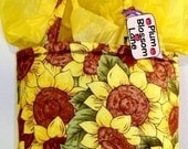 Gift Bag - Small Tote - Yellow Sunflowers
