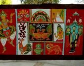 Hand Dyed Vintage Batik Fabric Panel