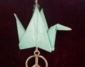 Mint/Seafoam Green Peace Crane Necklace