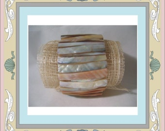 Drilled Shell Beads - River Clam Elongated Seashell Beads