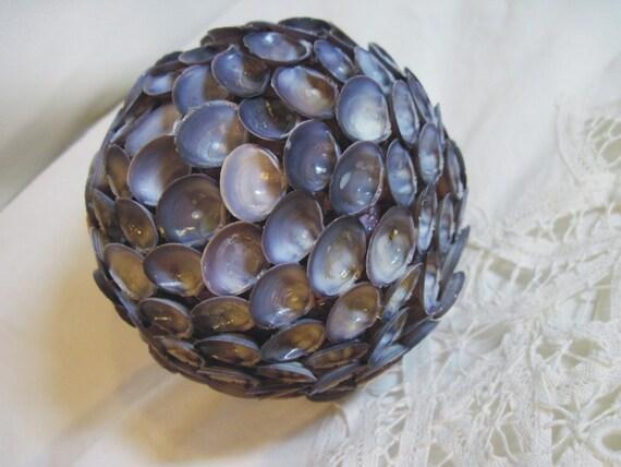Shell Ball 4 inch Purple Ball for Weddings Beach Decor 704