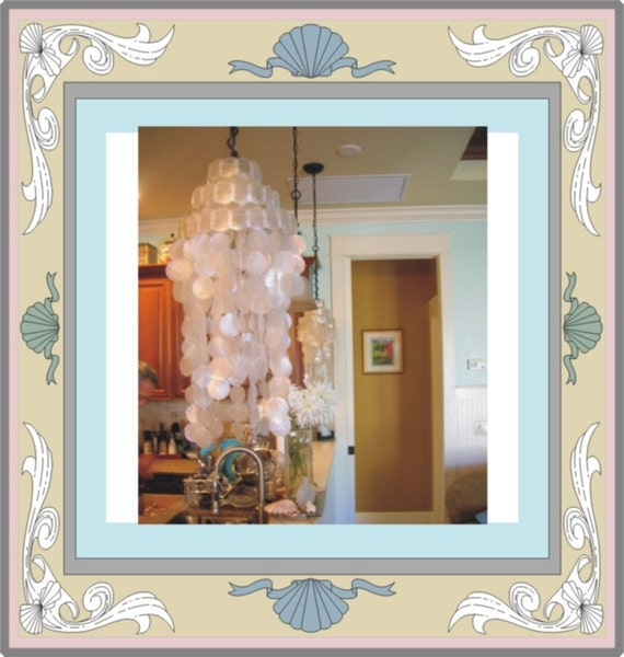 Capiz Seashell Chandelier for Cottage Decor and Parties Beach Wedding Windchime
