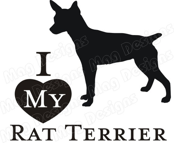 Rat Terrier Vinyl Dog Decal Silhouette On Etsy
