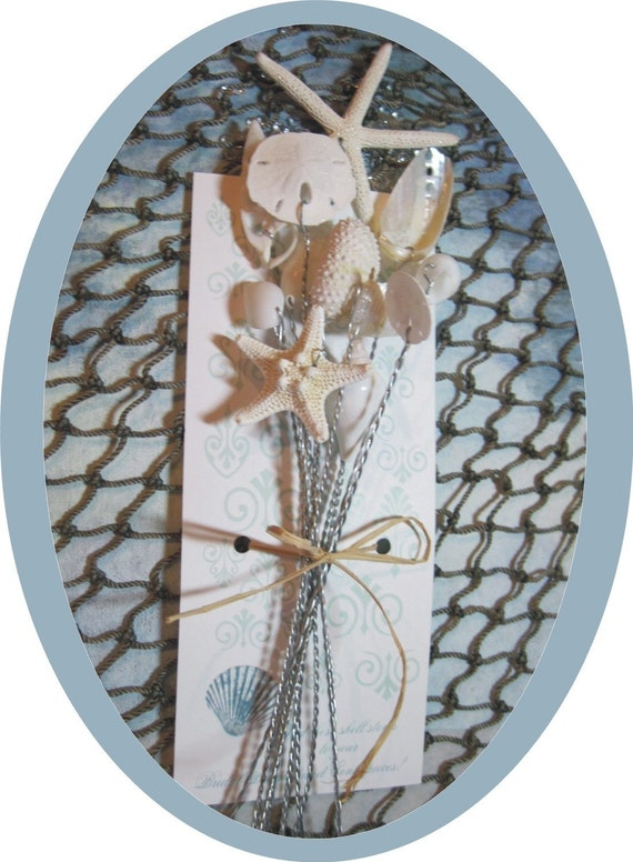 Seashells - 1 Dozen Starfish and Shell Stems - Wedding Bouquets and Centerpieces