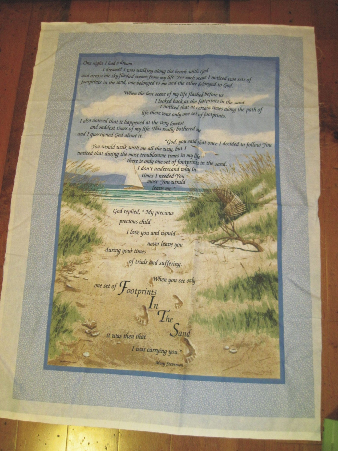 Quilt Panel Footprints In The Sand Sew It Yourself