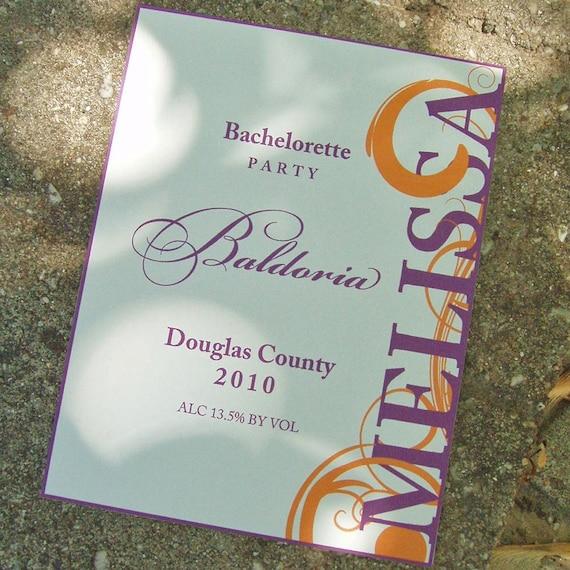 Vintage Wedding Dresses Omaha Ne: Wine Label Bachelorette Party Invitation 25 By