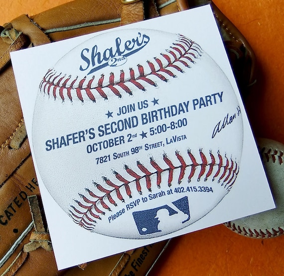 baseball birthday invitation custom printable invite pdf