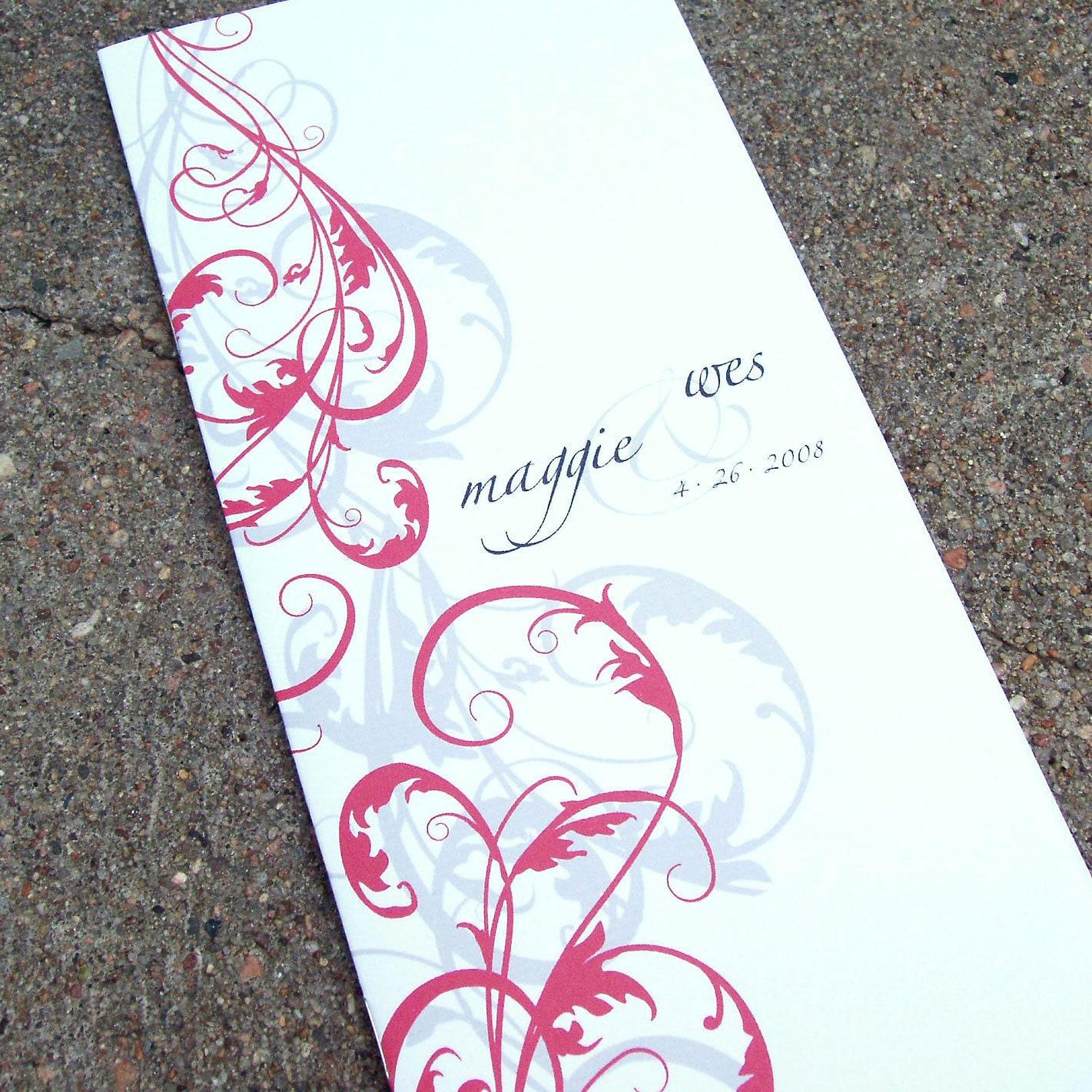 DIY Printable Wedding Program