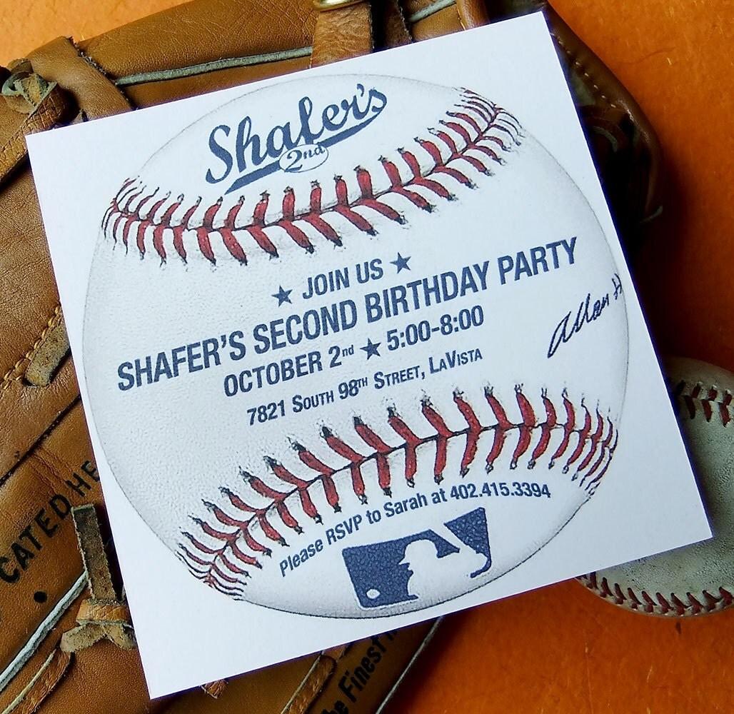 Baseball Birthday Invitation Custom Printable Invite PDF