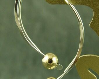 Silver Earrings Silver and Gold, Little Black Dress, Silver Hoops ETSY SALE