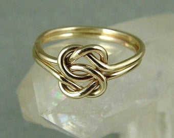 Gold Love Knot Ring / Celtic Knot ring / Infinity Knot Ring / Lover's Knot Ring / Sister Ring/ Best Friend Ring