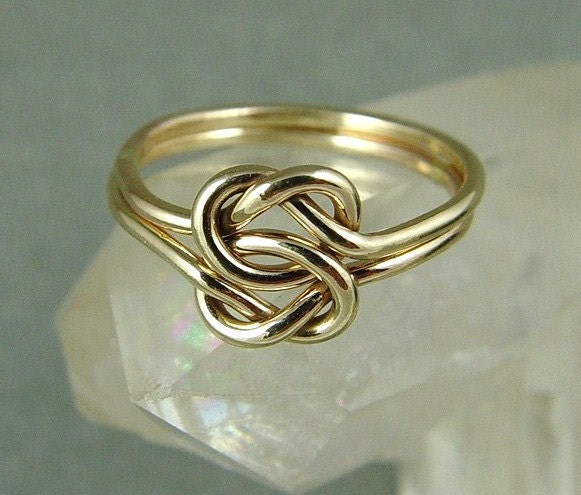 gold love knot ring celtic knot ring infinity knot ring. Black Bedroom Furniture Sets. Home Design Ideas