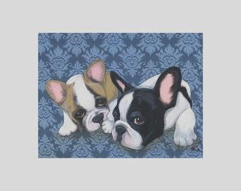 French Bulldog Bouledogue Francais Art Print Dasha Goux