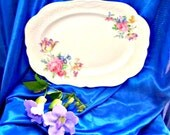 Sweet Vintage Platter Plate Pabaco 50's Roses