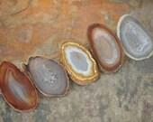 Agate Ornaments Suncatcher Pendant - Set of Five Small