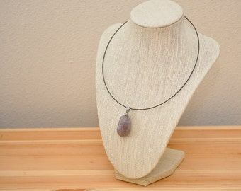River Rock Necklace - Grape Jelly Bean