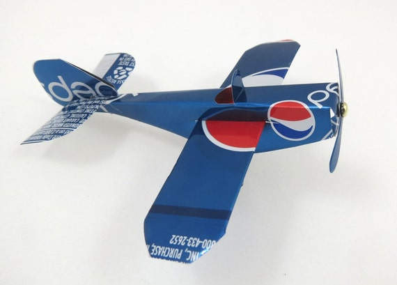 Recycled Soda Can Airplane, Pepsi Cola