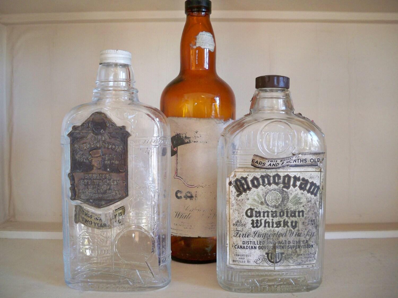 Whiskey bottle vintage antique