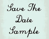 Non-customized Save The Date Sample