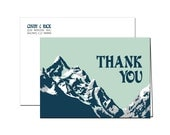 Vintage Winter Mountain Thank You Cards - 5 x 7 - (set of 20)