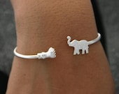 Birthday Gifts Elephant Bracelet Sterling Silver Jewelry - Express Shipping Available