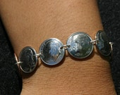 Coin Jewelry Dime Bracelet Sterling Silver Links Real US coins