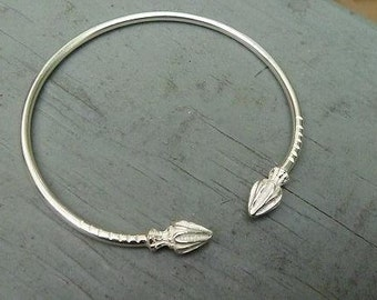 Sterling Silver Bracelet Bangle Cocoa Pod
