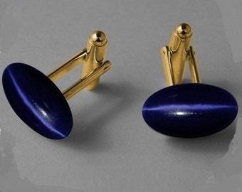 Cuff Links Blue Stone